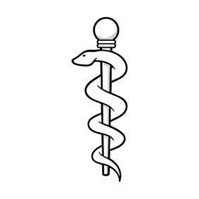 Significato e simbologia Bastone di Asclepio P