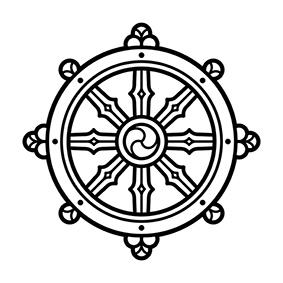 Significato e simbologia Ruota del Dharma P
